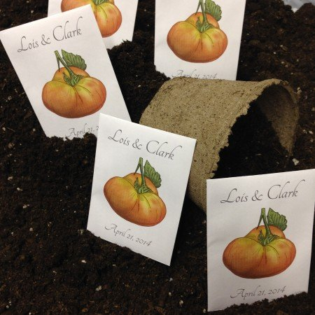 Personalized Seed Packet Favors - Beefsteak Tomato