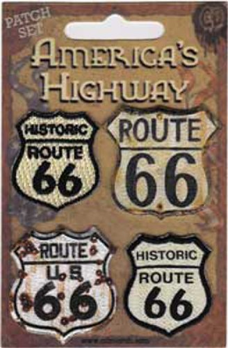 Application Road Signs Route 66 Patch Set, 4-Piece