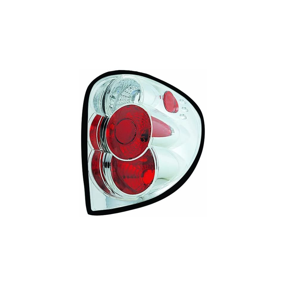 IPCW CWT 409C2 Dodge Caravan/Chrysler/Plymouth Voyager Crystal Clear Tail Lamp with Crystal Eyes   Pair