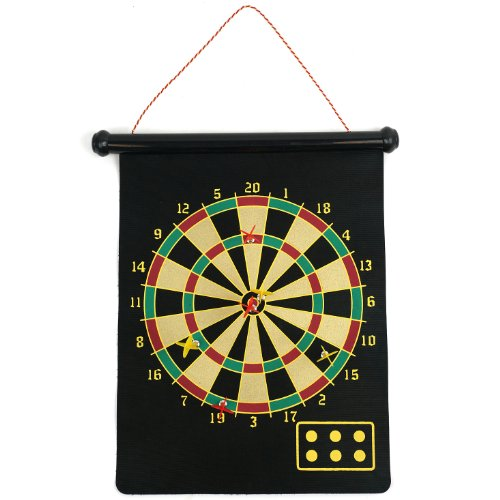 Magnetic Roll-Up Dart Board And Bullseye Game With Darts 1 front-461540