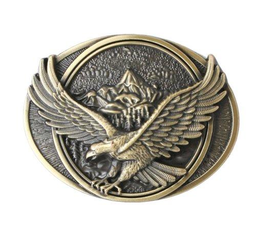 Eagle in Flight Belt Buckle - Bronze Color