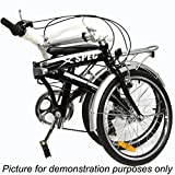 Xspec 20 7 Speed City Folding Compact Bike Bicycle Urban Commuter Shimano White
