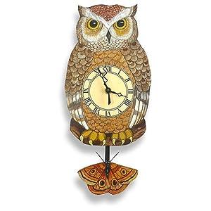 Amazon.com: Night Owl Pendulum Wall Clock: Baby