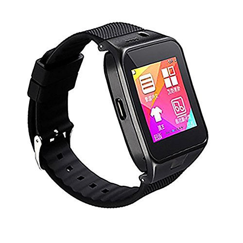 OKCSC New GV09 Smart Watch Phone Touch Screen Bluetooth Anti-lost SMS Sync Pedometer Sleep Monitoring Stopwatch Photograhph Sports Wristwatch for Android Smart Phone (Black)