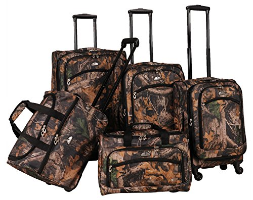 american-flyer-camo-5-piece-spinner-luggage-set-green-one-size
