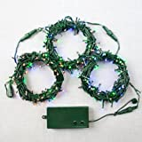 300 LED Connectable Multi-Color Battery-Operated Outdoor String Lights with 8 Functions & Auto Timer - 94 Feet