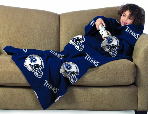 NFL Tennessee Titans Youth Size Comfy Throw Blanket with Sleeves