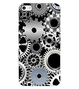 ColourCraft Clock Locks Design Back Case Cover for APPLE IPHONE 4