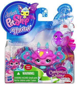 Littlest Pet Shop Fairies 2-Pack Candyswirl Dream Fluffy Sweet Fairy & Ladybug