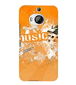 Vizagbeats Orange Music Back Case Cover for HTC One M9+::HTC One M9 Plus