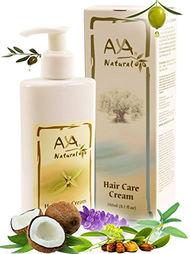 Leave-In-Conditioner-Hair-Moisturizer-Cream-Vegan-Paraben-Free-Natural-Anti-Frizz-Nourishing-Hair-Care-81-oz-Olive-Jojoba-Coconut-and-Rosemary-Oils-Blend