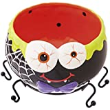 Cypress Home Ceramic Spider Candy Bowl with Metal Leg Stand