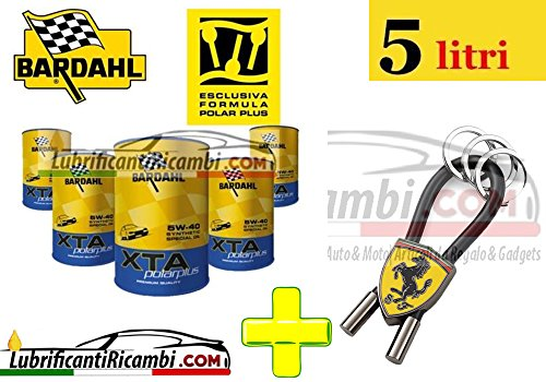 Offerta-5-Litri-Olio-Motore-Auto-Bardahl-XTA-PolarPlus-5w40-100-Sintetico-Portachiavi-Ufficiale-Scuderia-Ferrari