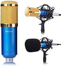 XCSOURCE BM-800 Condenser Sound Studio Recording Microphone Mic Broadcast Dynamic Shock Mount Blue TH038