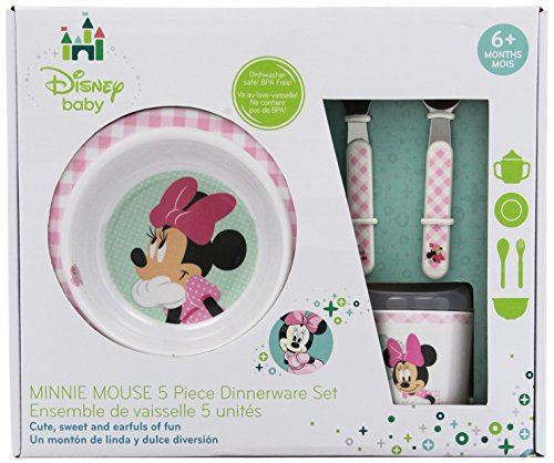 Kids Preferred Disney Baby Melamine Set, Minnie Mouse - 1