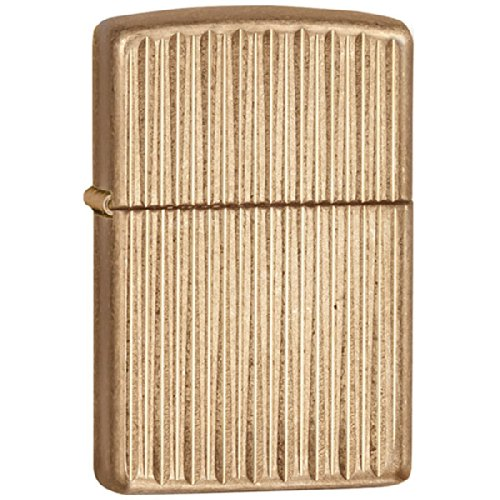 Zippo Engine Turn 1 Armor Tumbled Brass Windproof Lighter (Set of 6)