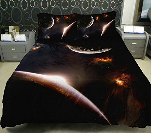 Anlye Galaxy Quilt Cover Galaxy Duvet Cover Galaxy Sheets Space Sheets Outer Space Bedding Set With 2 Matching Pillow Covers (Full) front-894782