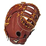 "Mizuno GXF58 MVP Series 13"" Adult Baseball or Softball First Baseman Mitt - Brickdust (Right-Handed Throw)"