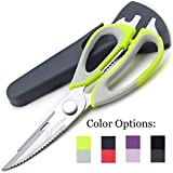 Kitchen Scissors Shears by Pridebit Multifunction Heavy Duty Come-Apart Kitchen Shears with Magnetic Holder