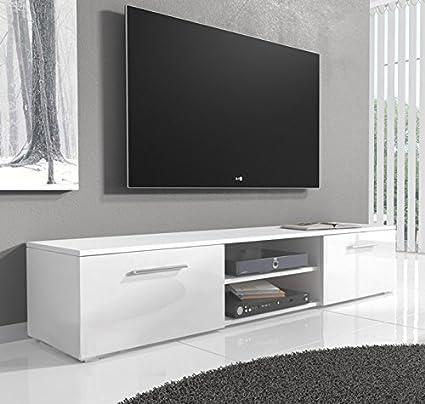 Muebles Bonitos –Mueble TV modelo Manila en blanco (150cm)