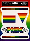 Gay Pride Rainbow 5 Pack of Stickers / Decals - 5 Separate Stickers! - Sticker / Decal