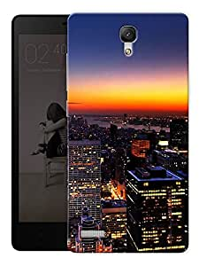 """City Life Printed Designer Mobile Back Cover For """"Xiaomi Redmi Note - Note 4G"""" By Humor Gang (3D, Matte Finish, Premium Quality, Protective Snap On Slim Hard Phone Case, Multi Color)"""