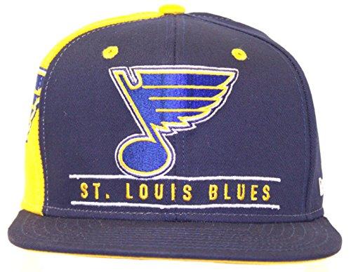 NHL Licensed St. Louis Blues FlatBill Snapback Baseball Hat (Saint Louis Blues Snapback compare prices)