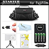 Accessories Bundle Kit For Fujifilm Finepix HS25EXR, S8200, S8300, S8400, S8500, S8600, S9200, S9400W, S9800, S9900W Includes 4 AA Rechargeable NIMH Batteries + AC/DC Rapid Charger + Case + More