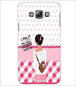 PrintDhaba Quote D-5896 Back Case Cover for SAMSUNG GALAXY E7 (Multi-Coloured)