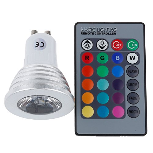 S6Store® 3W 16 Colors Gu10 Rgb Changing Remote Control Holiday Flash Party Led Spot Downlight Christmas