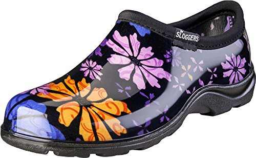 Sloggers 5116FP11 2016 Floral Collection Women's Rain & Garden Shoe, Size 11, Flower Power (Rain Shoes For Women Size 11 compare prices)
