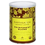 EarthSavor Gourmet Coffee Rainforest Blend 10 Ounce Cans  Pack of 3