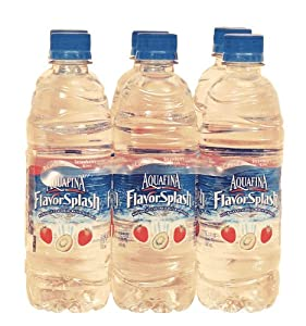 Aquafina Flavor Splash strawberry flavored water, 6 16.9-fl. oz. $5.15 3-L
