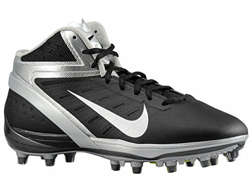 Nike Alpha Talon Elite 3/5 TD Football Cleats (11.5, Black/White/Chrome)