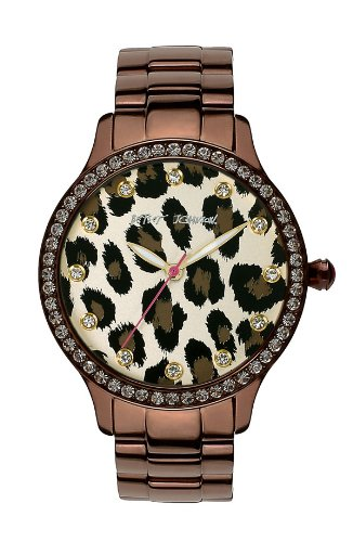 Betsey Johnson Leopard Crystal Jewel Watch