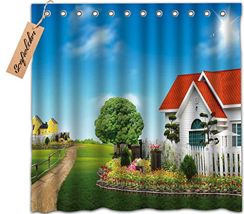 [iPrint Brand Personalized Customization Waterproof Custom Shower Curtain,House] (Dr Gregory House Costume)