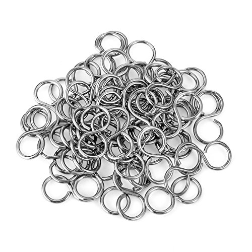 HOUSWEETY Stainless Steel Silver S Clasp End Tips Jewelry Connectors Findings 50PCs 10x5mm