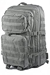 Mil-Tec Military Army Patrol Molle Assault Pack Tactical Combat Rucksack Backpack Bag 36L Foliage Green