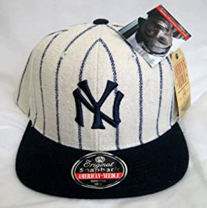 MLB American Needle 1921 New York Yankees Pinstriped Snapback Hat by American Needle