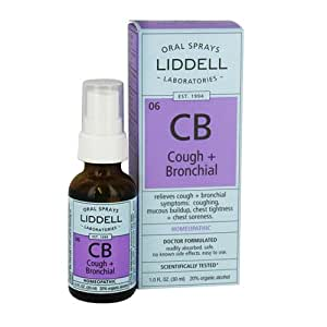 Liddell Homeopathic Cough and Bronchial Spray, 1 Ounce