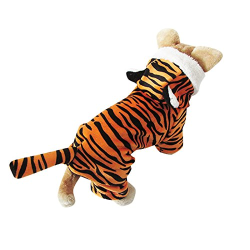 Speedy Pet Dog Clothes Cat Apparel Adorable Costume 100% Cotton Material Tiger Design Orange Size S (Adorable Dog Costumes)