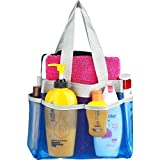 Shower Caddy - Quick Dry Hanging Toiletry and Bath Organizer with 7 Storage Compartments - Perfect Dorm, Gym ,Camp & Travel Tote Bag - Convenient and Sturdy Double Woven Carrying Handle - High Quality Breathable Mesh Fabric Caddy Shower - 100% Money Back Guarantee