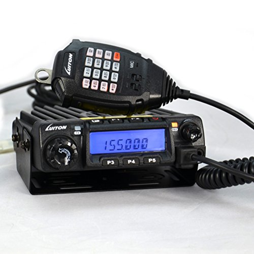 LUITON LT-580 VHF Mobile Radio 60watts 136-174Mhz with Free Programming Cable Long Distance Car FM Transceiver (Black)