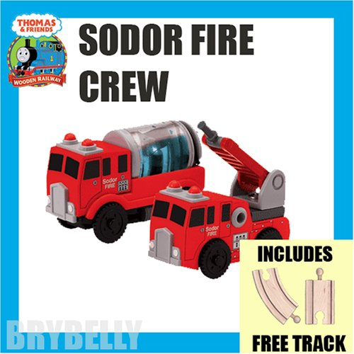 Sodor Fire Crew with free track from Thomas the Tank Engine & Friends Wooden Railway Train System