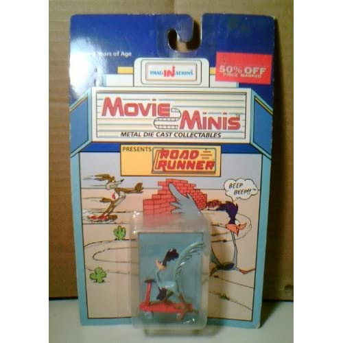 Movie Minis Looney Tunes Road Runner Die Cast Metal Figurine (1988)