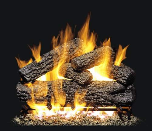 Discover Bargain Peterson Real Fyre 24-inch Post Oak Log Set With Vented Natural Gas G4 Burner - Mat...