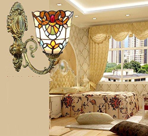 scale stile pastorale camera da letto della lampada da parete del corridoio Jane europee comodino creativo lampada da parete singola testa della lampada Tiffany artigianale