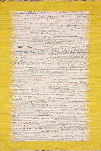nuLOOM Madison Collection Contemporary Hand Made Area Rug, 5-Feet by 8-Feet, Sunshine