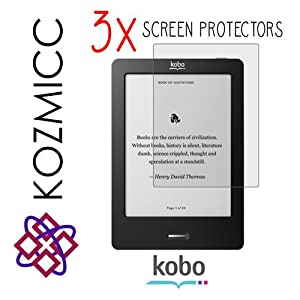 KOZMICC 3x Kobo eReader Touch Edition Display Screen Protectors
