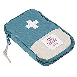 PackNBUY GREEN First Aid Bag Pouch,Pill Case/Box/Pouch-Ultralight,Sturdy and Durable,Super Convenient-Perfect for Camping,Hiking,Travel,Home,Other Outdoor Activities and Family Emergency